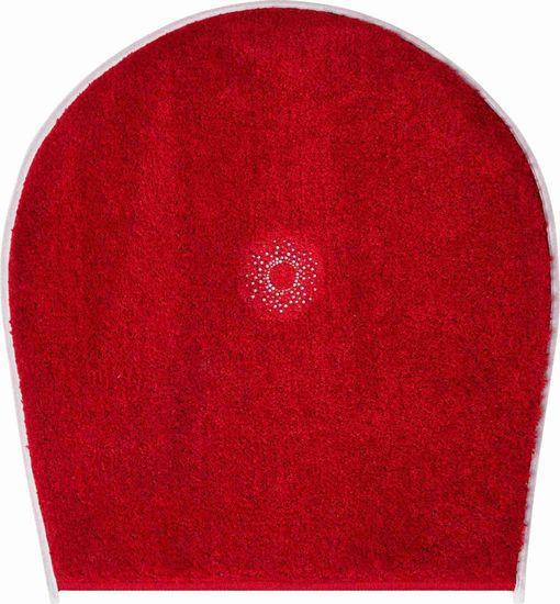 GRUND s kryštálmi SWAROVSKI - exkluzívna česká kúpeľňová predložka, CRYSTAL LIGHT 47 x 50 cm, červená