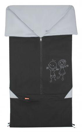 Emitex vreča za voziček 2v1 BARY, črna/siva