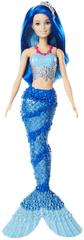 Mattel Barbie morská panna - modré vlasy