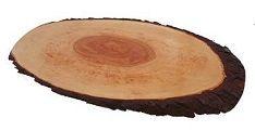 Portoss ovalna deska z lubjem, 40-50 cm, voskana