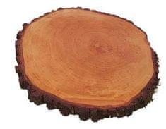 Portoss okrugla daska s korom, promjena 20-25 cm, s voskom