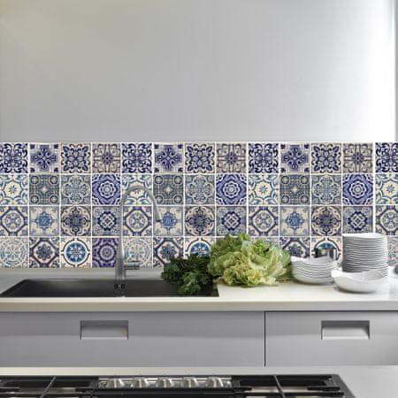 Walplus Samolepiaca tapeta Spanish Blue Tile