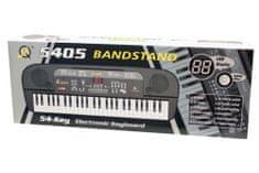 Unikatoy piano z mikrofonom, 54 tipk (25034)