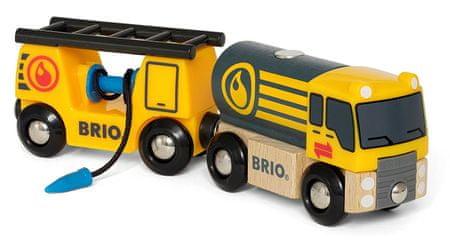 Brio ciężarówka z wagonami