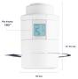 5 - DANFOSS Eco™ Bluetooth, inteligentná radiátorová termostatická hlavica, biela