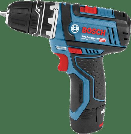 BOSCH Professional Akumulatorowa wiertarko – wkrętarka GSR 12V-15 FC Set