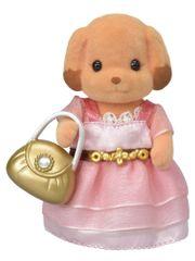 Sylvanian Families Pudlice v růžových šatech s kabelkou 6004