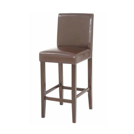 eefa6bd3bf69f Barová stolička, tmavohnedá ekokoža/tmavý orech, MONA 2 NEW | MALL.SK