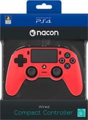 Nacon igralni plošček za PS4, rdeč