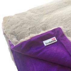 Doodlebone Luxusní měkká deka Purple
