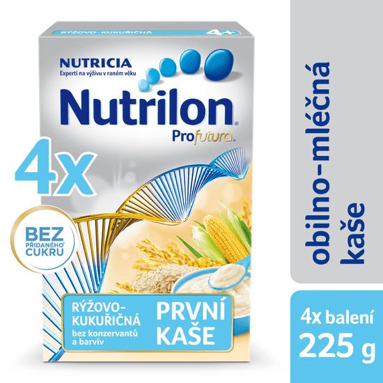 Nutrilon Mliečna kaša ryžovo-kukuričná - 4 x 225g