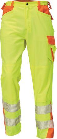 Červa Reflexné pracovné nohavice Latton žltá/oranžová 48