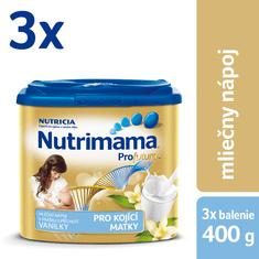 Nutrilon Nutrimama mliečny nápoj v prášku, vanilka - 3 × 400g
