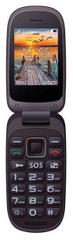 MaxCom preklopni mobilni telefon MM818, crni