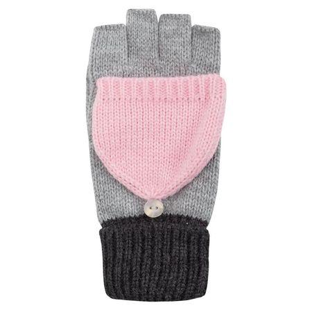 4F dziewczęce rękawiczki J4Z17 JREDD101 szary jasny XS