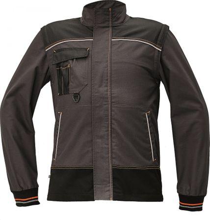 Červa Odolná montérková bunda a vesta Knoxfield 2v1 antracit/oranžová 54