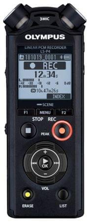 Olympus diktafon LS-P4, črn