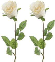 Kaemingk Ruža biela 45 cm, 2 ks