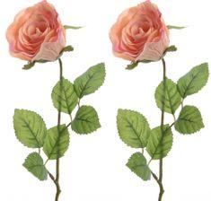Kaemingk Ruža broskyňová 45 cm, 2 ks