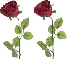 Kaemingk Ruža červená 45 cm, 2 ks