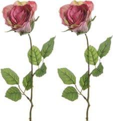 Kaemingk Ruža ružová 45 cm, 2 ks