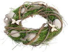 Kaemingk Veľkonočný veniec zeleno-hnedý, 25 cm