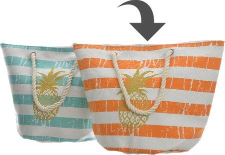 Kaemingk Plážová taška s ananásom, oranžová