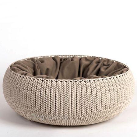 Curver postelja za male živali, Knit peščena