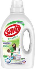 Savo Prací gel na bílé a barevné prádlo 1 l (20 praní)