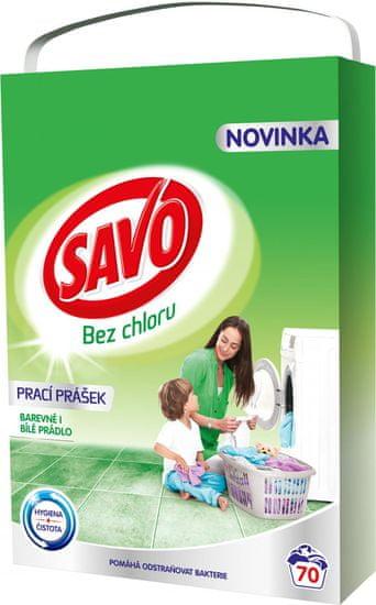 Savo Prací prášek na bílé a barevné prádlo 5 kg (70 praní)