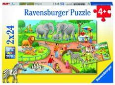 Ravensburger Deň v zoo 2x24 dielikov