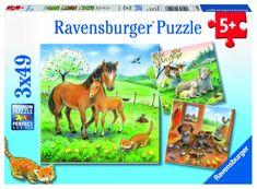 Ravensburger sestavljanka Čas za nežnost, 3 x 49 delov