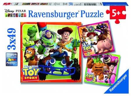 Ravensburger sestavljanka Disney Toy Story zgodovina, 3 x 49 delov