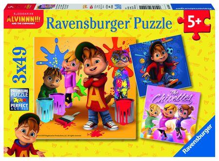 Ravensburger Puzzle Alvin, 3 x 49 dijelova