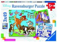 Ravensburger Disney puzzle 3x49 elementów
