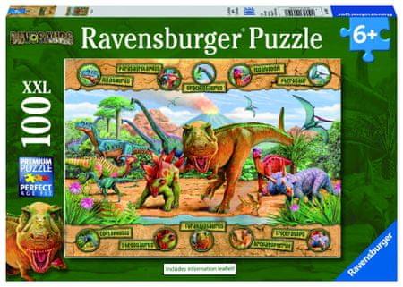 Ravensburger sestavljanka dinozavri, 100 delov