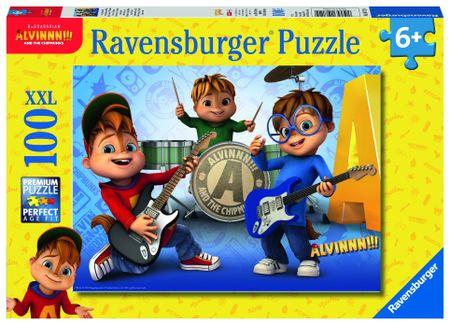 Ravensburger sestavljanka Alvin, Simon,Theodore, 100 delov