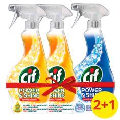 Cif Power&Shine Kuchyňa čistiaci sprej 2 x 500 ml + Power & Shine Kúpeľňa 500 ml