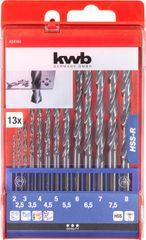 KWB set svrdla za metal, 2-8 mm, 13/1, HSS, DIN 338 (424140)