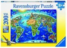 Ravensburger slagalica velika karta svijeta, 200 komada