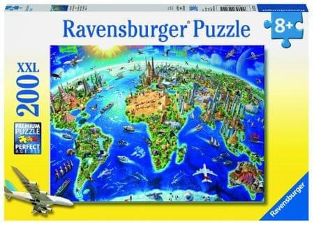 Ravensburger Nagy világtérkép 200 darabos