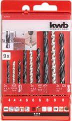 KWB set svrdla za metal, beton i drvo, HSS, TCT, CV, 9/1, DIN 338 (420400)