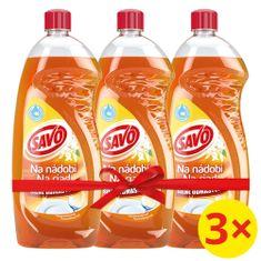 Savo Prípravok na umývanie riadu Pomarančový kvet 3 x 1l
