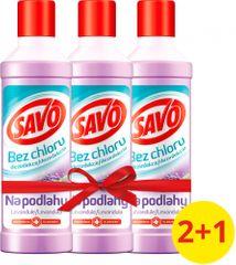 Savo Na podlahy dezinfekčný prostriedok bez chlóru Levanduľa 3x 1 l