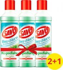 Savo Na podlahy dezinfekčný prostriedok bez chlóru Eukalyptus 3x 1 l