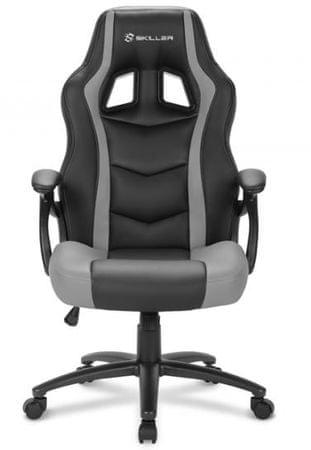 Sharkoon gamerski stol Shark SGS1, črn/siv
