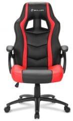 Sharkoon gamerski stol Shark SGS1, crno/crveni