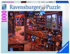 Ravensburger sestavljanka Dedkova delavnica, 1000 delov