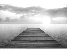 Dimex Fototapeta XL-5555-SK Mólo čiernobiele 330 x 220 cm