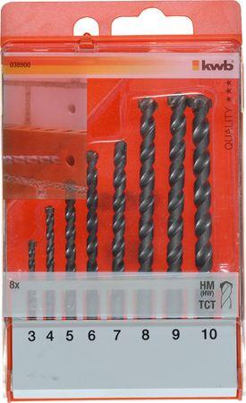 KWB set svrdla za kamen i beton, 3-10 mm, 8/1, TCT, ISO 5468 (38900)